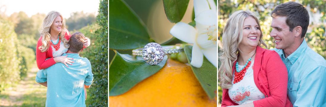 Wedding Photographer Ocala Gainesville Florida Engagement Photography Orange Groves Oranges